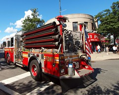 """E088e FDNY """"First Duo at the Zoo"""" Engine 88, Little Italy, Bronx, New York City (jag9889) Tags: county city nyc italy food house holiday ny newyork car festival retail truck shopping fire italian automobile belmont bronx district engine culture company entertainment transportation vehicle borough tradition 88 littleitaly stores fdny firefighters 2012 seagrave bravest arthuravenue ferragosto 9912 187street engine88 e088 jag9889 y2012"""