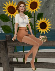 Sunflowers & Pearls (Elise Petrov) Tags: yummy truth secondlife ingenue auxillary elisepetrov donnaflora lagyo dselect montissu sparrowtreestudioposes