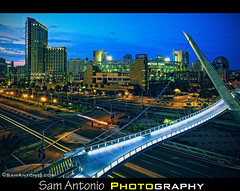 Come Sail Away in Americas Finest City (Sam Antonio Photography) Tags: california city bridge sky usa eastvillage architecture outdoors cityscape sandiego nopeople bluehour viewpoint suspensionbridge connection sandiegoskyline petcopark travelphotography traveldestinations colorimage famousplace highangleview downtowndistrict horitzontal builtstructure canoneos5dmarkii pedestriansuspensionbridge sandiegobridge sandiegoeastvillage sandiegocityscape sandiegocentrallibrary canon1740lens samantoniophotographycom harbordrivepedestrianbridge gettystockimage