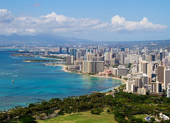 Honolulu from Diamond Head (Mary Susan Smith) Tags: city travel vacation hawaii holidays cityscape postcard fromabove superhero honolulu thumbsup bigmomma gamewinner challengeyouwinner fromdiamondhead cychallengewinner cyunanimous herowinner storybookwinner pregamewinner