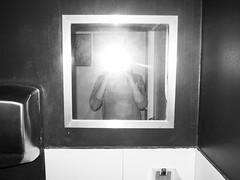 (Georgios Karamanis) Tags: bw white selfportrait black me self bathroom mirror sweden flash toilet sp uppsala lavatory karamanis