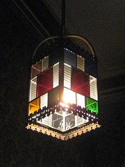 blue light red green history glass lamp yellow metal... (Photo: raaen99 on Flickr)