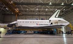 Endeavour Work at LAX (201209240001HQ) (NASA HQ PHOTO) Tags: california ca usa losangeles hangar nasa spaceshuttle endeavour ov105 losangelesinternationalairportlax billingalls overlandtransporterolt