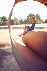 Frankie (Garrett Meyers) Tags: california sun white girl canon photographer tank dress bokeh pipe rusty style garrett blonde shorts redding meyers 90s