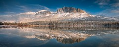 Mt Yamnuska (Luke Austin) Tags: snow reflection spring rockymountains canmore exshaw mtyamnuska