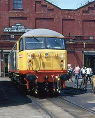 BR Class 56 56049 at Crewe Works Open Day, 4th. July 1987. (Crewcastrian) Tags: 56049 crewe br class56 trains 1987 transport railways diesel locomotive creweworks openday enthusiast