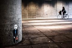 Gösta (Ulf Bodin) Tags: streetart bike graffiti sweden uppsala sverige cyklist uppsalalän canoneos5dmarkii uppsalaresecentrum canonef40mmf28stm