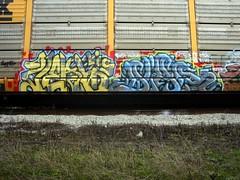 Verb Diar (strange thought) Tags: colors train graffiti pieces letters rail freight dir dtc kyt autorack verb