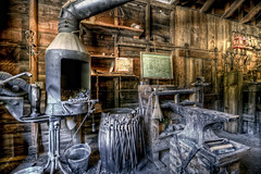 The Forge (eCHstigma) Tags: california metal nikon iron places tools fremont tokina workshop blacksmith forge furnace ultrawide hdr ardenwood smithy d600 1116mmf28
