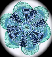 Zendala Dare #25-colored (ronniesz) Tags: art watercolor doodles zia penink mandelas zentangle zendalas