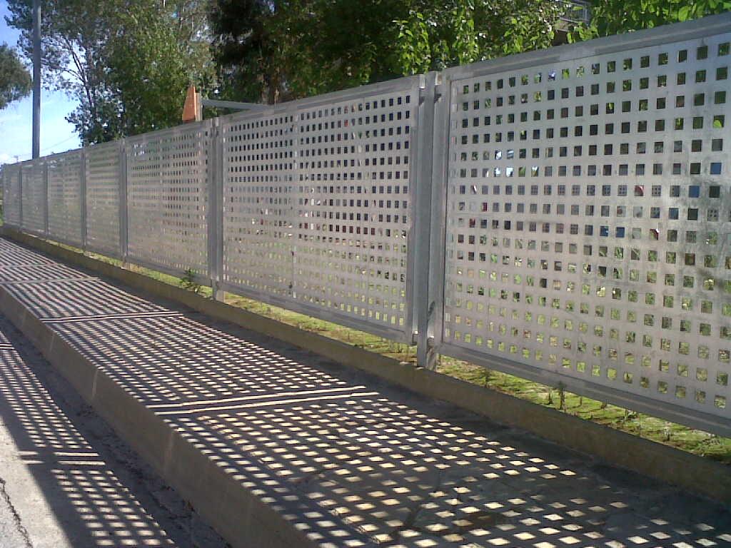 verja de chapa perforada tags industrial jardin marco