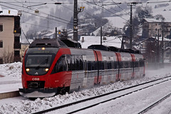 A OBB 4024 170-7 Matrei am Brenner 15-02-2012 (peters452002) Tags: bahn bahnhof clickcamera eisenbahn etrain jalalspagestransportationalbum olympus olympuse520 peters452002 rail railroad railroads railway railways spoor spoorwegen treinen twop zug trein travel trains train ferrovia jalalspages elektrotriebwagen oostenrijk austria bb talent