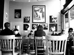 People Watching (Penseroso) Tags: sanfrancisco coffee fillmore royalgrounds