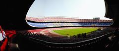 Camp nou, Barcelona (Ballygrant Boy) Tags: barcelona panorama football nikon europe barca stitch stadium soccer campnou 24120 d700 flickraward