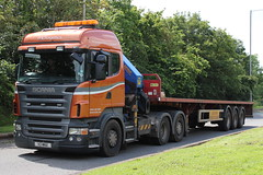 MCL Logistics - Scania R420 - V2 MNX - Michael Wood Services M5 (NewSpectrum) Tags: tractor freight scania logistics haulage mcl r420 railer