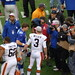 Eli Manning and Brandon Weeden meet