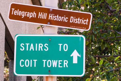 Stairs to Coit Tower Ahead