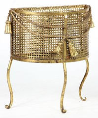 33. French Brass Waste Basket