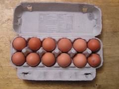 SuperValu Daily Basics Eggs - open (Lord Inquisitor) Tags: brown chicken box daily eggs carton hen basics supervalu