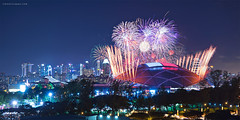 Preview (rh89) Tags: select singapore fireworks firework national day parade preview ndp 2016 sportshub sports hub skyline indoor sport stadium cityscape view panoramic sony 2870 a7r fe 2870mm
