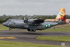 Pakistani Air Force C-130E Hercules 144 (philrdjones) Tags: 144 2016 airtattoo c130e departures egva ffd fairford hercules july l382 lockheed lockheedmartin pakistan pakistaniairforce riat royalinternationalairtattoo