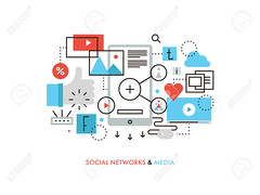 Social network flat line illustration (epowerconsults) Tags: social network media mobile marketing line share internet communication people online chat flat business networking web connection vector viral information video message recommend friend phone messaging technology abstract concept connect sharing symbol global friendship talk discussion community thumbup society relationship like illustration virtual togetherness blogging person contact user blog graphic wireless comment telephone group element cloud multimedia data icon smart service link