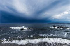 """""""Saint-Laurent"""" (pascaleforest) Tags: paysage landscape orage sky ciel nuage cloud eau water vague wave gaspsie passion"""