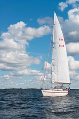 Sailing (JarkkoS) Tags: 2470mmf28eedafsvr blue boat boating d800 finland kotka sailing sea sky sport summer suomenlahti water white kymenlaakso fi