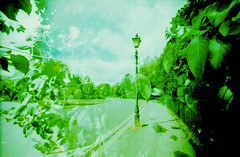Battersea Park (Myahcat) Tags: xpro crossprocess 35mm film lomography 200iso summer overexposed analogue london battersea lcwide doubleexposure