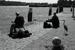 Three Fishers (g e r a r d v o n k ) Tags: artcityart art backlight blackandwhite canon city expression eos europe flickrsbest fantastic flickraward fishermen fishing holland haven harbor jeneverstad jenever lifestyle ngc newacademy nederland outdoor photos people reflection stad street summer schiedam this travel unlimited uit urban whereisthis where water yabbadabbadoo
