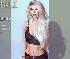 """=DeLa*= new hair """"Emily"""" (=DeLa*=) Tags: dela hair fitted mesh materials new secondlife secondlifefashion sl slhair style uber"""