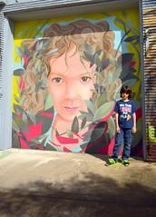 Houston art (Cristali Designs) Tags: houston texas murals shreddi bike squeleton pink artwork artist creative blue streetart graffiti cristalidesigns urbanart wallart murales colour colorful