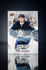 Josh Morrissey Silver Script Rookie (cdn_jets_cards) Tags: 1617 ud mvp winnipeg jets josh morrissey silver script rookie rc card 282 hockey cards upper deck