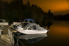 Mayfield Lake (Curtis Gregory Perry) Tags: silver creek washington boat night water reflection mayfield lake longexposure nikon d800e