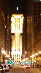 South LaSalle St., August 14, 2016, 9:15pm (artistmac) Tags: chicago il illinois lasalle lasallest boardoftrade canyon night evening traffic