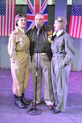 Don Gentile with W.A.S.P.S. (masimage) Tags: hootonpark hooton park 1940s weekend 2016 wartime ww2 wwii soldier army navy raf usarmy jive dance thevictorygirls victorygirls victory girls belladonnabrigade belldonna brigade singers ensa vintage britain 40s reenactment reenactor