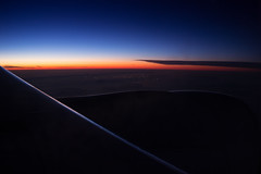 Evening from 34000 ft (jasohill) Tags: 777 color high squid altitude 2016 vancouver fishing plane place photography sky trip japan subtle ocean pacific aircanada