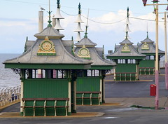 Ornate weather huts at Blackpool (Tony Worrall) Tags: blackpool resort place england english north northwest visit county town area northern location lancs lancashire uk fylde fyldecoast coastal tour 2016 tony worrall country welovethenorth seaside sea victorian holiday building weather huts ornate