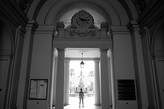Confronting The Pasadena City Hall (lightmagic) Tags: fujifilm xe2 xf 18mm f2 fuji bw cityhall pasadena california los angeles arches architecture
