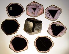63402 Elbaite 8 slices alt1 (Stan Celestian) Tags: nhmla elbaite