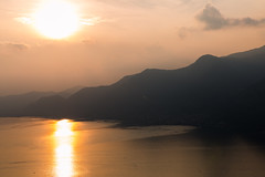 Sunset on Iseo 3 (LIL Scarab) Tags: italia iseo lago lac lake canon eos 6d ff pleinformat ef2470mmf28lusmii redring sunset color orange ombres landscape mountains clouds sky wedding view