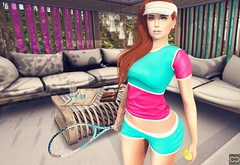 Anyone For Tennis? (Cryssie Carver) Tags: secondlife second life sl avatar whimsical uber paperarrowco paper arrow co truth pumec ikon catwa maitreya cheekypea cheeky pea everglow