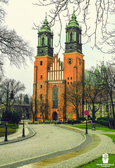 G r o w  O l d (Rzvan Oprea-Balai) Tags: trees red church stones outdoor architecture road design facade famous landmark structure saint historic oldest bishop old europe cathedral basilica poznan roman poland classic catholic polska 10thcentury romanesque miasto posen towers