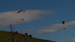 Anna and Shaun (overflow50) Tags: paragliding paraglider canberra springhill spring australia sky clouds