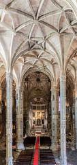 Navata di San Jeronimo (antoniosimula) Tags: chiesa abbey monastero sanctuary san jeronimo navata nikon d3200 lisbon lisbona lisboa portogallo portugal al chiuso