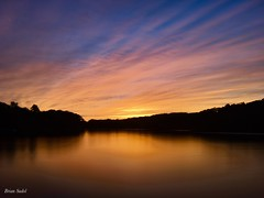 Sunset at the Lake! (briansudol1961) Tags: trees blue orange spectacular longexposure water newjersey colors sunset lake