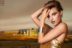 Gold Aliena (visionimiopi) Tags: portrait fashion gold ritratto cosenza lampista strobist