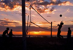 Sunset Volleyball San Diego, California (moonjazz) Tags: california classic beach sports sandiego calif volleyball serve
