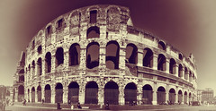 Colosseum - Roma (Hadi Al-Sinan Photography) Tags: italy rome roma history yellow sepia canon photography interesting ancient shot roman mark best colosseum explore ii 5d 2012 lazio manfrotto hadi 2470mm alsinan