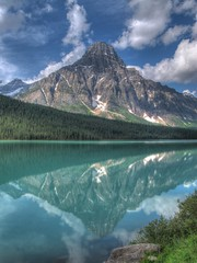 Mount Chephren and Waterfowl Lake HDR 2 (fusionpanda) Tags: canada landscape alberta banff hdr icefieldsparkway waterfowllake photomatix mountchephren